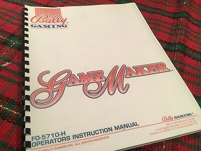 BALLY GAME MAKER Slot Machine OPERATORS INSTRUCTION manual