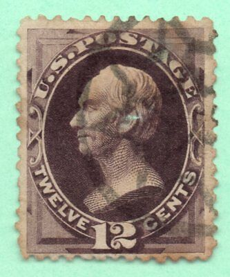 #162 / Early US Stamp / Fancy Cancel / Faults
