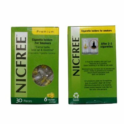 NICFREE Cigarette Filters Tar and Nicotine Same Taste For Smokers 1 pack x 30pcs