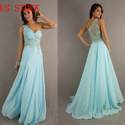 Long Lace Chiffon Bridesmaid Prom Dress Formal Evening Party Ball Gown 34-40 Hot