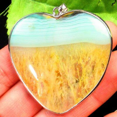 Wrapped Green Yellow Druzy Geode Agate Heart Pendant Bead 46x47x6mm L23955