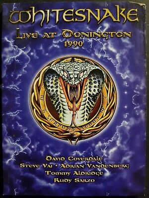 Whitesnake - Live at Donington 1990 (DVD, 2011) David Coverdale, Steve Vai OOP