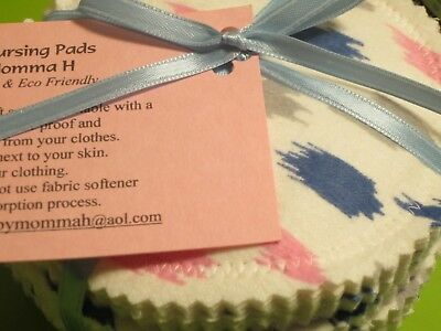 12 PC Reusable, Washable Breastfeeding Nursing Pads ~ Made by Momma H ™