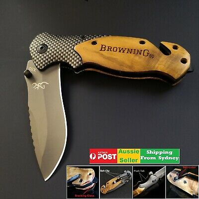 Browning X50 Folding Opening Pocket Knife Hunting, Camping, Survival, Fishing
