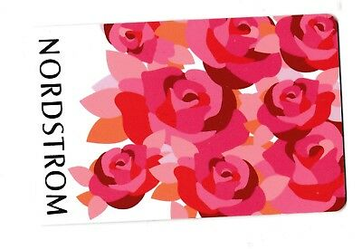 Nordstrom no value collectible gift card mint #44 Red Roses