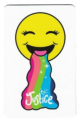 Justice no value collectible gift card mint #05 Happy Face with Rainbow Tongue