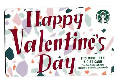 Starbucks collectible gift card no value mint #182 Happy Valentine's Day