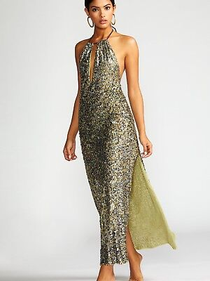 Free People Margarita Sequin Jumpsuit 6 350 Msrp 29900 Picclick