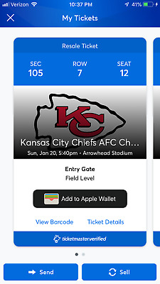 2 AFC Championship Game Tickets LA Chargers / NE Patriots vs Kansas City Chiefs