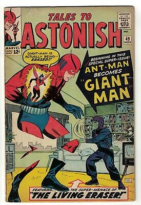 Marvel TALES TO ASTONISH 49 CENT Mid grade GIANT MAN AVENGERS 5.5 FN-