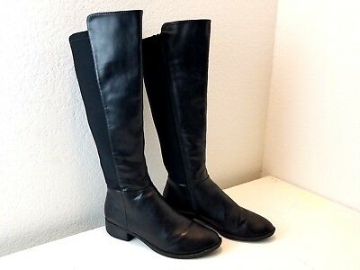 Ladies Size 9m Mid Calf Dress Boots Shoe Black Pre Owned Womens