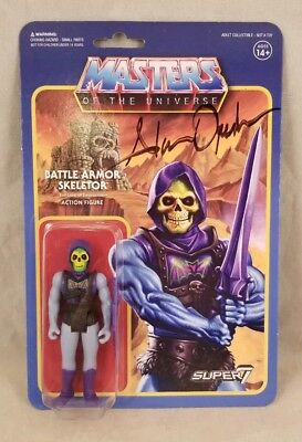 BATTLE ARMOR SKELETOR Masters of the Universe MOTU Super 7 3.75 figure SIGNED