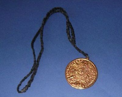 Handcrafted Sundial Necklace, Antique Bronze Coloured Metal, Brand New, Aust.