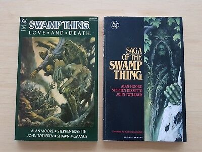 Saga of the Swamp Thing TPB DC 1987 - Alan Moore 1st Printing + Love and Death