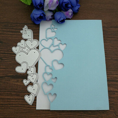 Heart Lace Edge Frame Metal Cutting Dies Stencils For Crafts Scrapbooking