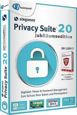Steganos Privacy Suite 20 Jubiläumsedition inkl. VPN ESD/Download Version