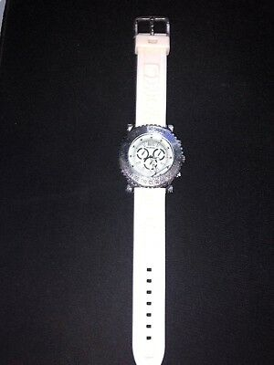 A Broken Silver White Koral Watch Does Not Work Stainless Steel Water Resistant