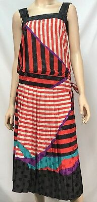 Vintage Anthea Crawford Skirt and Top Set - Size 10