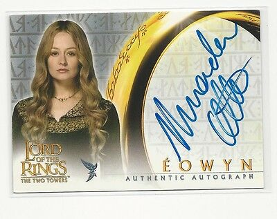 Miranda Otto as Eowyn 2002 Topps Lord of the Rings LOTR Autograph Auto Card