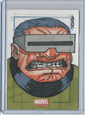 Mole Man 2011 Marvel Universe Hand Drawn Sketch Card by Randy Monces 1/1