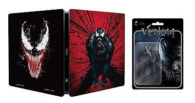 Venom (4K Ultra HD) & Action Figurine - limited edition steelbook blu ray