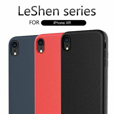 LENUO Dermatoglyph Faux Leather TPU Case Cover for Apple iPhone XR