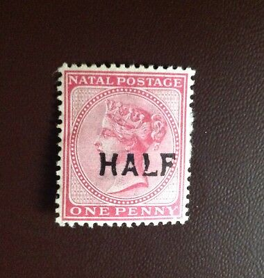 South Africa Natal 1895 1/2d on 1d Rose SG125 MH