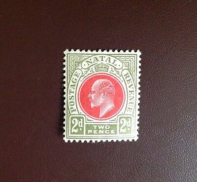 South Africa Natal 1902-04 2d Red & Olive Green SG130 MH