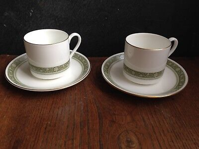 "TWO. ROYAL DOULTON ""RONDELAY"" COFFEE CUP and SAUCER , FREE POST"