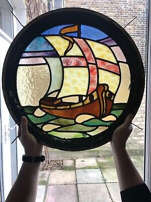 Stained glass roundel