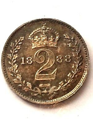 1888 Maundy G. Britain 2 Pence UNC Beautiful coin ++++ high grade