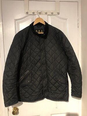 Men's Black Barbour Chelsea Sportquilt Jacket Size M••Bargain••