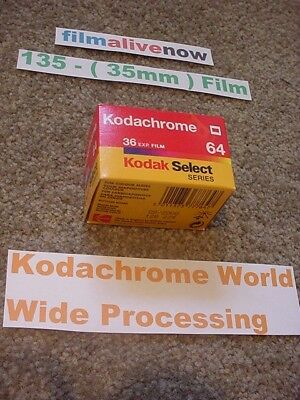 Kodachrome 35mm Lives, & Processed all over the World, 135 Still Camera Film New