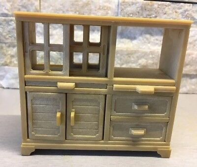Sylvanian Families Spares Double Sided Kitchen Cabinet Room Divider Dresser Rare