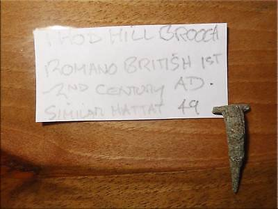 Hod Hill Brooch Romano British 1st 2nd Century AD Bronze as Found UK