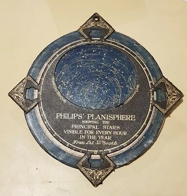 """PHILIPS' PLANISPHERE 12.5""""..  from latitude 35 South"""