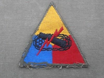 Original  US WW2 - patch unités blindées armoured units - Omaha Beach DDay