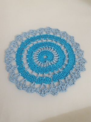 Parakeet Blue in Baby Blue  Bumblebee doily Approximately 5 Inches.