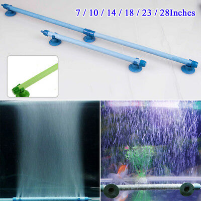 """Airstone Wall Tube Bubble Tube Reef Various Sizes 7""""-28"""" 1CM Aeration Plastic"""