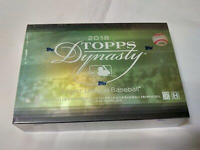 2018 Topps Dynasty Baseball Factory Sealed Hobby Unopened Box F8