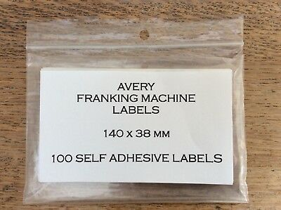 100 Avery Self-Adhesive Franking Machine Double Mailing Labels 140mm X 38mm