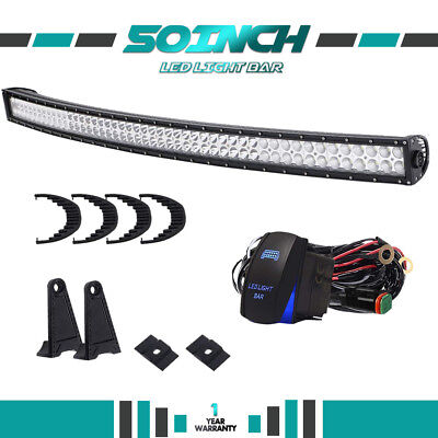 50inch 288W LED Work Light Bar Combo Offroad For 4WD SUV Jeep RZR Chevy 48/52