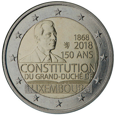 2 Euro commémorative Luxembourg 2018