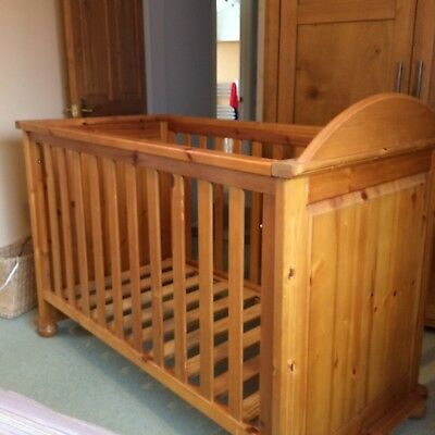 Mothercare Antique Pine Cot.