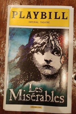 Les Miserables - OBC Playbill - Ramin Karimloo - Will Swenson - March 2014