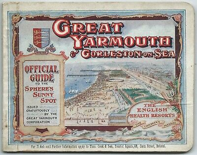 GREAT YARMOUTH & GORLESTON ON SEA 1911 Official Guide illustrated info & adverts