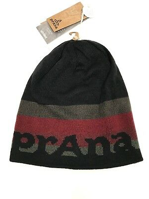 Prana Beanie Hat Reversible Spell Out Winter Unisex Cap One Size NWT  34 414612036483