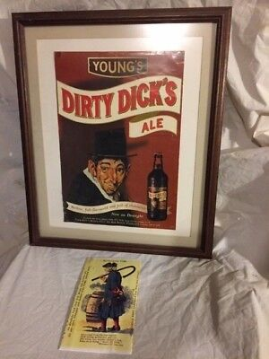 Dirty Dick's Ale - Framed Poster and Menu