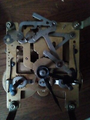 Vintage Unbranded Chime Clock Movement. Possibly 8 Day.
