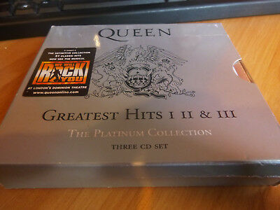 QUEEN GREATEST HITS I II & III THE PLATINUM COLLECTION 3 x CD in great condition